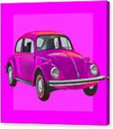 Volkswagen Beetle So Pinks Canvas Print