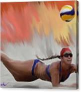 Volleyball Dig Canvas Print