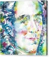 Voltaire - Watercolor Portrait Canvas Print
