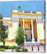 Volusia County Court House Yellow Canvas Print