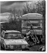 Volvo And Trailer Canvas Print