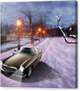 Volvo P1800 Snow Scene Canvas Print