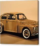 Volvo Pv 544 1958 Painting Canvas Print