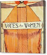Votes For Women, 1911 Canvas Print