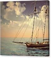 Voyage Of The Cutter Canvas Print