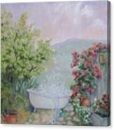 Voyeur At The Secret Garden Health And Beauty Spa Canvas Print