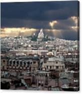 Vue De La Butte Montmartre.roofs Of Paris Canvas Print