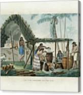 Vue Dune Distillerie Sur L Ile Guam Distillery Scene On Guam Canvas Print