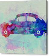 Vw Beetle Watercolor 1 Canvas Print