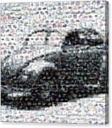 Vw Bug Volkswagen Mosaic Canvas Print
