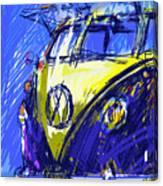 Vw Bus Blue Canvas Print