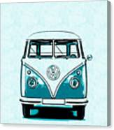 Vw Van Graphic Artwork Canvas Print