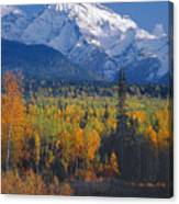 102238-v-w End Of Seven Sisters Mountain  Canvas Print