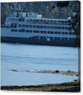 Wa State Ferry In Manchester Canvas Print