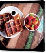 Waffles Canvas Print