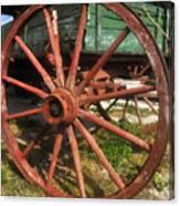 Wagon And Wheel Canvas Print
