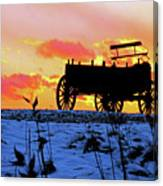 Wagon Hill At Sunset Canvas Print