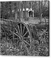Wagon In The Woods Canvas Print
