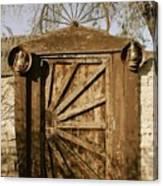 Wagon Wheel Gate Canvas Print