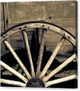 Wagon Wheel - Old West Trail N832 Sepia Canvas Print