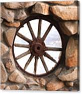 Wagon Wheel Window Canvas Print