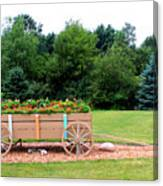 Wagon With Flowers Canvas Print