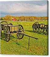 Wagons Used In The Civil War In Gettysburg National Military Park-pennsylvania Canvas Print