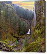 Wahclella Falls In Columbia River Gorge Canvas Print