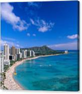 Waikiki And Diamond Head Canvas Print
