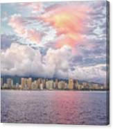 Waikiki Beach Sunset Canvas Print