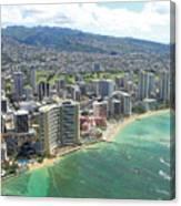 Waikiki From The Air  Canvas Print