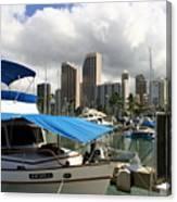 Waikiki Port Canvas Print