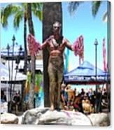 Waikiki Statue - Duke Kahanamoku Canvas Print