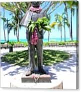 Waikiki Statue - Prince Kuhio Canvas Print