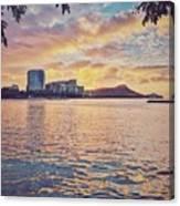 Waikiki Sunrise Canvas Print