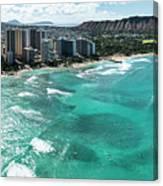 Waikiki To Diamond Head Canvas Print