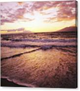 Wailea Beach At Sunset Canvas Print