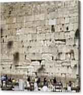 Wailing Wall In Jerusalem Canvas Print