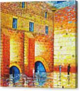 Wailing Wall Original Palette Knife Painting Canvas Print