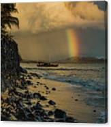 Waimanalo Rainbow Canvas Print