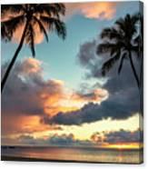 Waimea Beach Sunset 3 - Oahu Hawaii Canvas Print