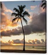 Waimea Beach Sunset - Oahu Hawaii Canvas Print