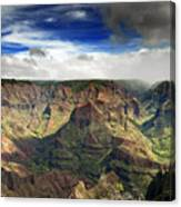 Waimea Canyon Hawaii Kauai Canvas Print