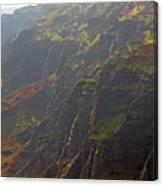 Waimea Canyon On A Misty Day In Kauai Canvas Print