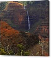 Waimea Canyon Waterfall Canvas Print