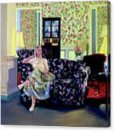 Waiting At The Gideon Putnam Hotel Canvas Print