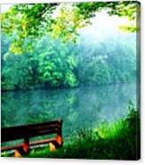 Waiting Bench Canvas Print