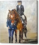 Waiting For Dressage Canvas Print