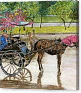 Waiting For Rider Jakarta Indonesia Canvas Print