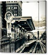 Waiting For The Blue Line Canvas Print